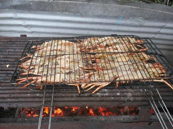 Chez Evelyne: barbecue langoustes
