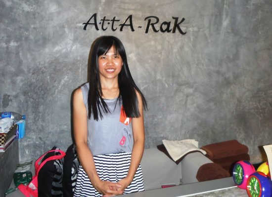 Let's Sea : Let's Relax: Check out the Name-you might miss it Atta Rak Nice hostess