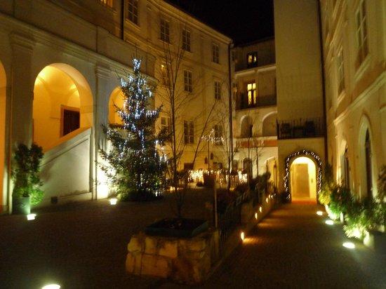 Iron Gate Hotel & Suites : la cour intérieure