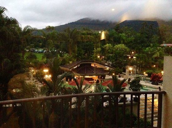 The Royal Corin Thermal Water Spa & Resort : view from my balcony - evening