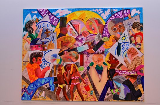 The Hepworth Wakefield: Colourful Dana Schutz dominates one wall.