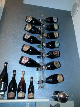 Uva e Menta : alcune birre all'ingresso...