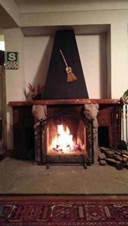 La Casona de San Jeronimo - Hotel Boutique: la hermosa chimenea