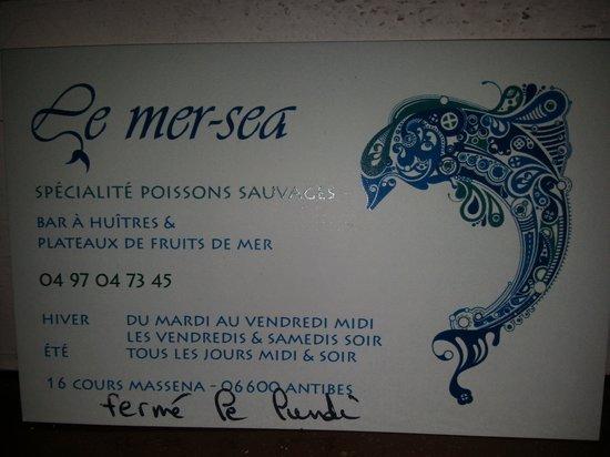 Mer Sea : carte de visite