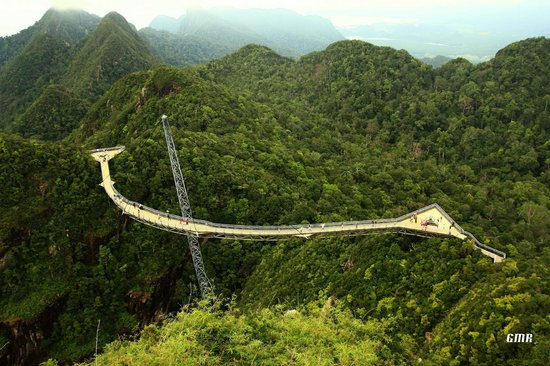 Geopark Hotel Langkawi: The hanging bridge on top