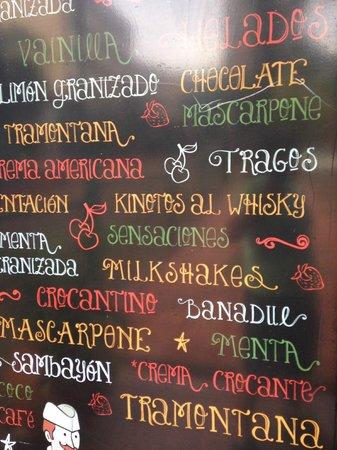 Cremolatti: sabores