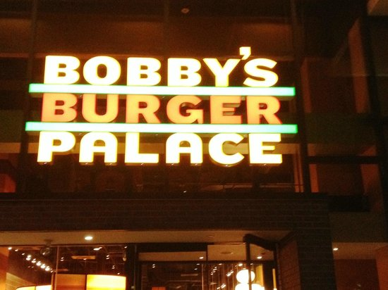 Bobby's Burger Palace: Front Entrance/Restaurant Sign