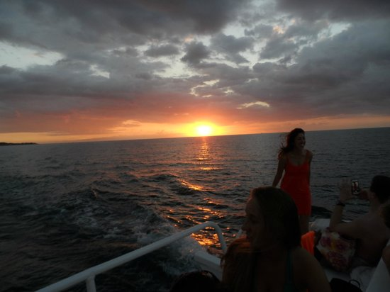 Couples Swept Away : Sunset from the included Catamaran Cruise