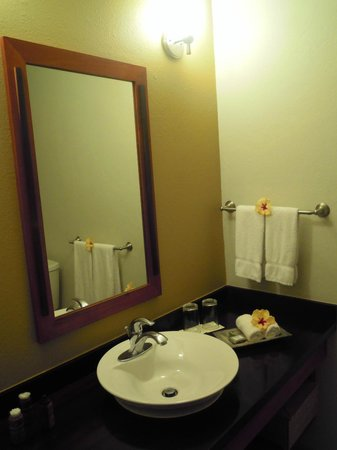 Ka'ana Resort: Very well appointed bathrooms.  Fresh flowers everywhere!