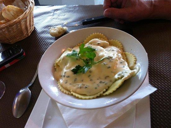 aux quatre vents : Ravioles à la crème d'épinards
