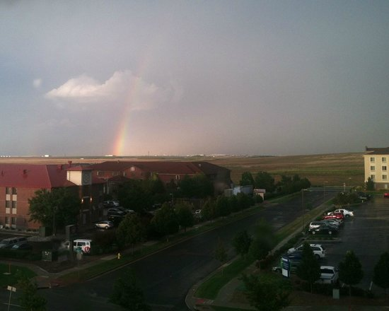 Staybridge Suites Denver International Airport : Peering out from Staybridge to see rainbows, frequent, over Denver International Airport