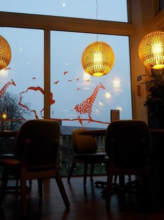 Giraffe Norwich: great views, and atmospher,