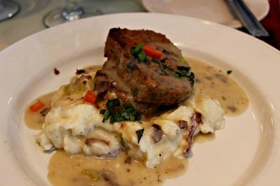 Malabar Farm Restaurant: Meatloaf with Andouille Sausage and Mashed Potatoes