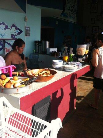 El Viajero San Andres Hostel & Suites: Café da manhã