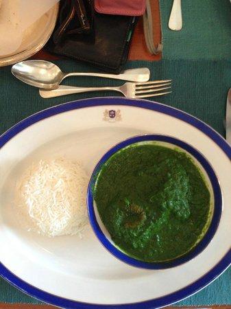 Esphahan: Paneer spinach dish