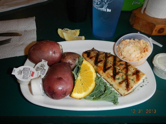 Rusty's Seafood and Oyster Bar: Fish of the day meal as noted