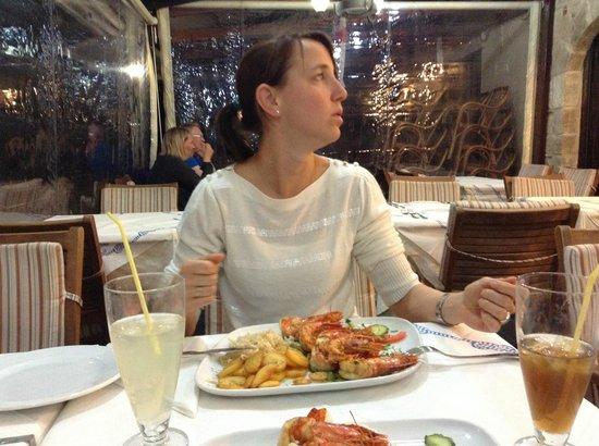 Mama Sofia's: big shrimps