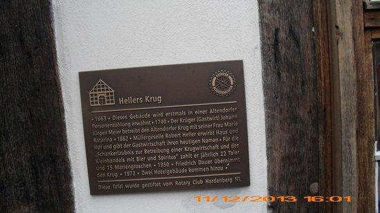 Hotel Hellers Krug : L'histoire des lieux