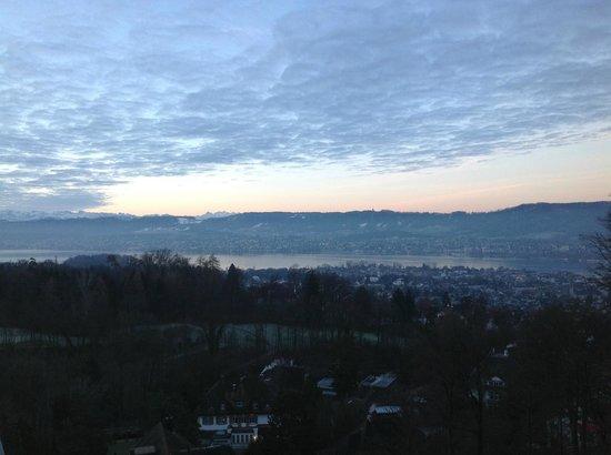 The Dolder Grand : vue sur le lac et Zurich