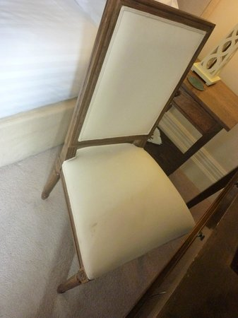 Bovey Castle Hotel : stain on chair