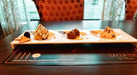 Saffron Lounge : The Halwa-Jamun-Malai platter -dessert