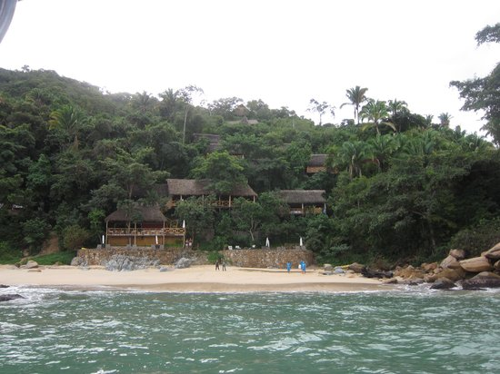 Xinalani Retreat: View of front of resort when approaching by boat