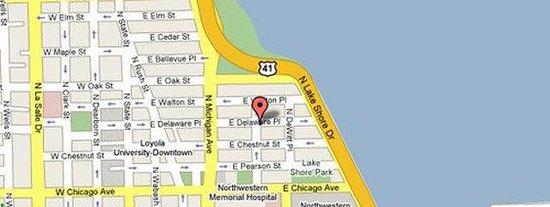 Map Picture Of Raffaello Hotel Chicago TripAdvisor - Chicago hotels map