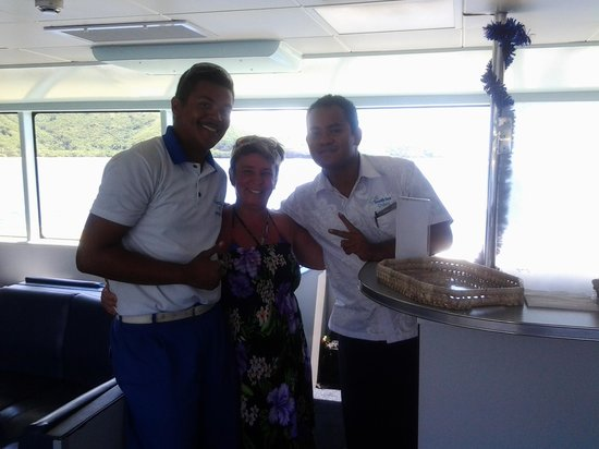 Yasawa Flyer Ferry: Renworth & Ray with my handicapped daughter Leah, they were wonderful.