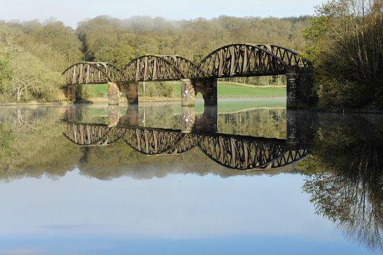 The Old Railway Bridge at Loch Ken Holiday Park.
