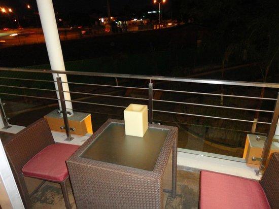 Maria Dolores: agradable el balcon