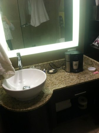 The San Luis Resort: The only counter area in the bathroom