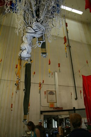 Aerial Fire Depot and Smokejumper Center: shutes hung before repacking