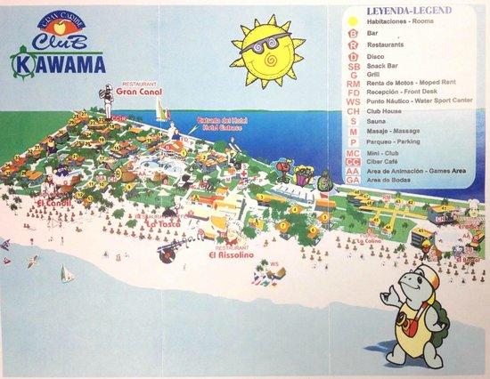 Kawama Map Picture Of Hotel Club Kawama Varadero