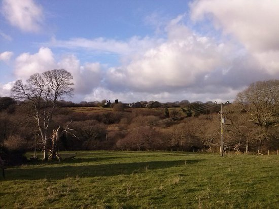 Rhos Country Cottages: View fro one of the Hendre Farmhouse windows