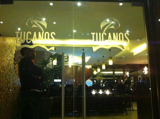 Tucanos: Restaurant front doors