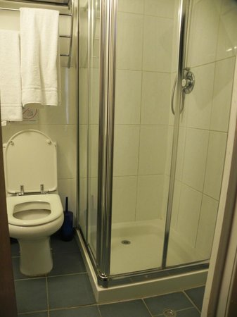 Falcon Hotel: Ensuite Toilet and Shower