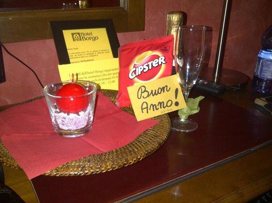 Hotel Borgo: aperitivo di benvenuto per l'ultimo dell'anno