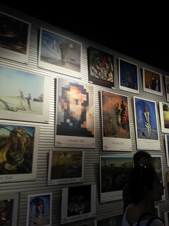 Museo de Dalí: The posters for sale in the gift shop, no photography allowed in the gallery