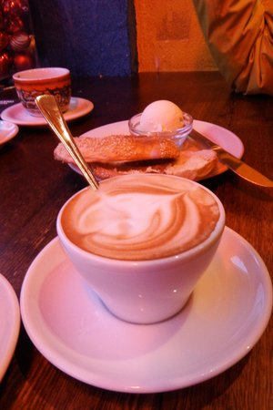 Cappuccinos at Kaffitar, Reykjavik