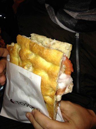 Pane e Toscana : schiacciata con lardo
