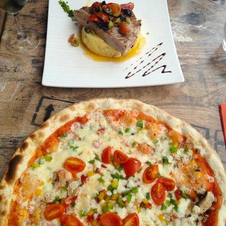 Chez Edgar: Thunfisch-Steak und vegetarische Pizza