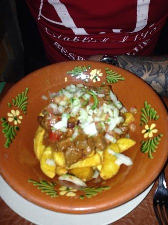 Emma's Cantina Mexicana: hottest chilli on the menu with wedges