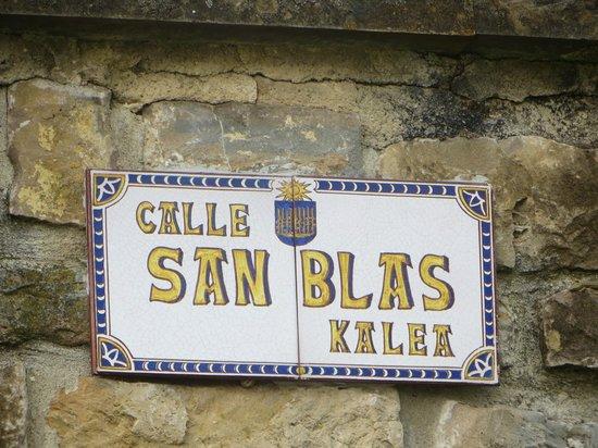 Casa Rural Paskalena I y II : San Blas - Olza's main (only?) street
