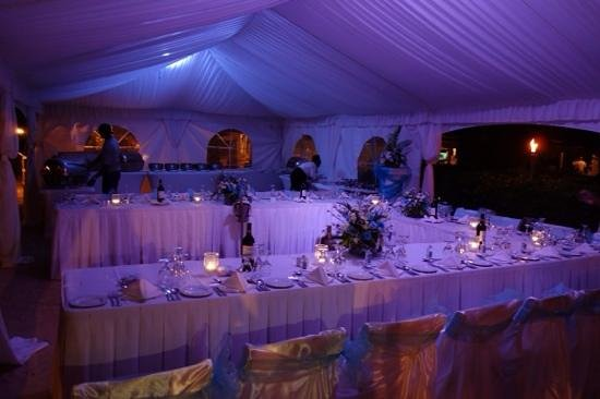 Turtle Beach by Elegant Hotels : our beach marquee for the wedding reception.....beautiful!