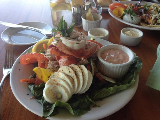 Galley Seafood Grill & Bar: Seafood Salad a feast for the eye and palate