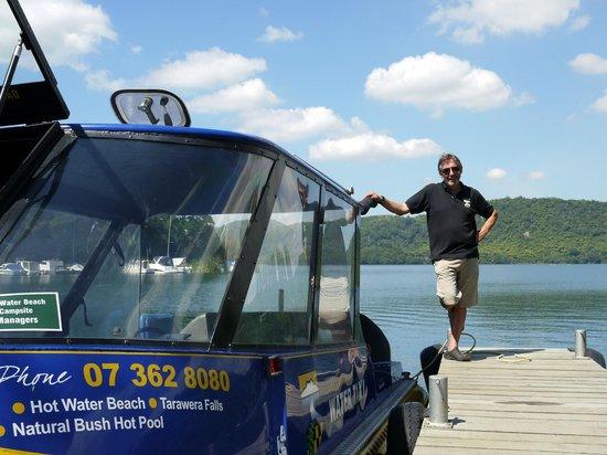Totally Tarawera: David and his water taxi