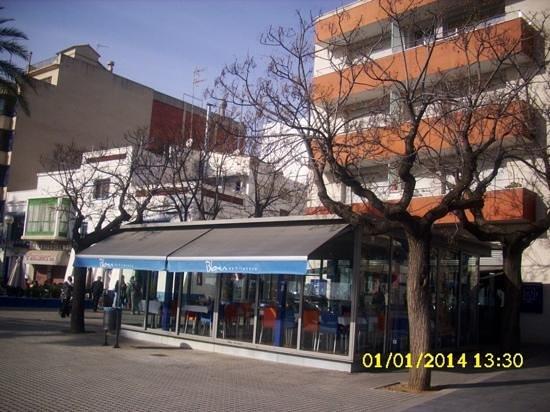 Blau de Vilanova: El 1 de Enero, en la terraza.