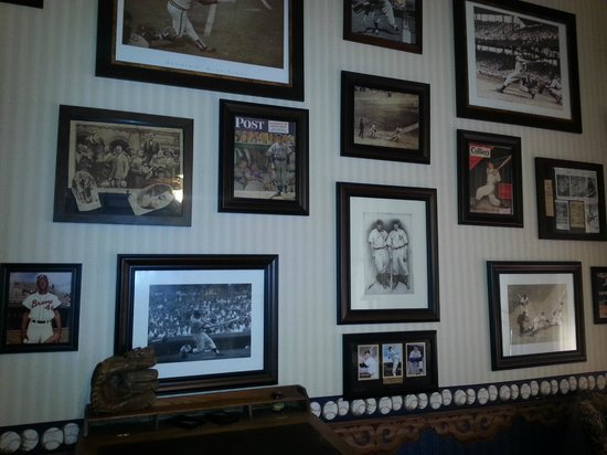 McFarlin House Gentlemans Quarters Room With Baseball Memorabilia