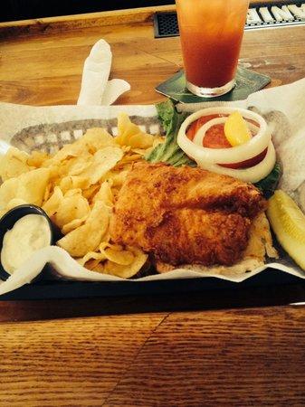 Nantucket Bucket: Delicious fried grouper sandwich!