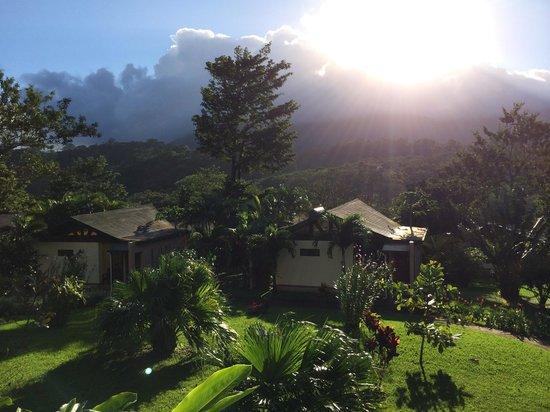Tenorio Lodge : vue de la terrasse du lodge sur Tenorio